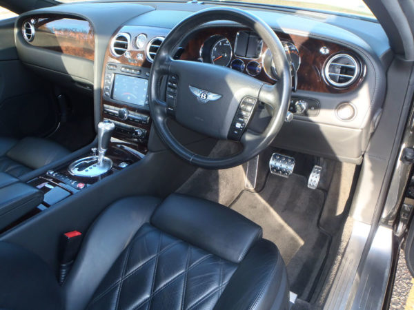 Bentley interior of the car