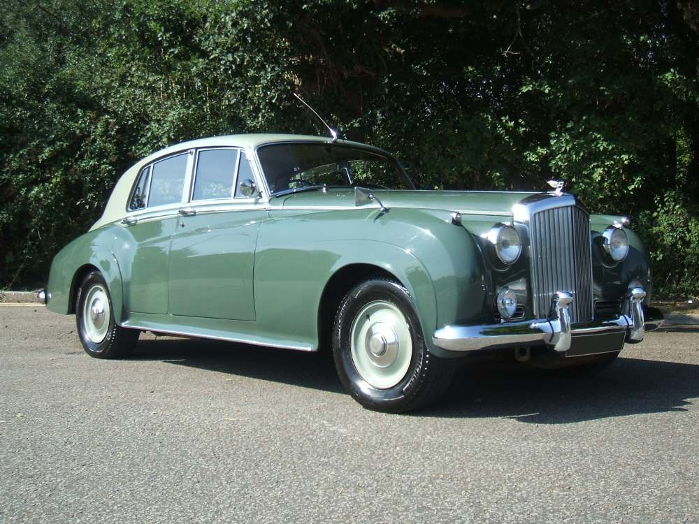 Classic green Rolls-Royce car
