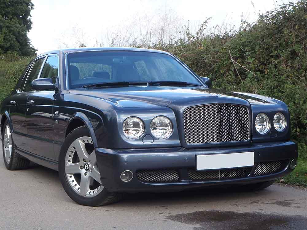 dark blue Bentley